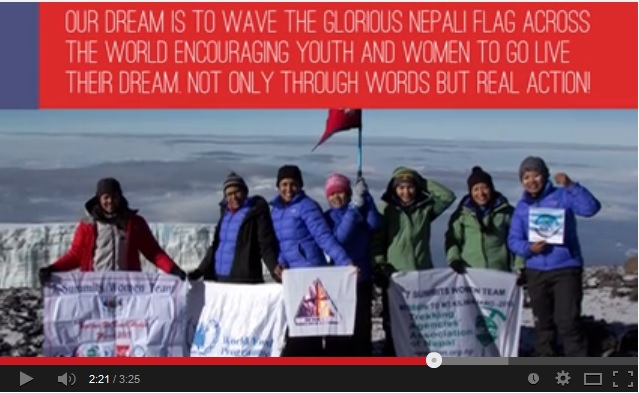 The members of the Seven Summits Women Team/ Screenshot from video