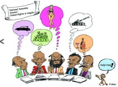 Cartoon on human rights in Angola via Maka with permission