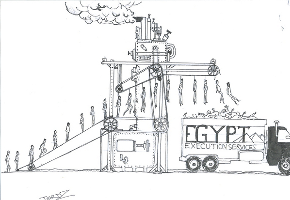 A state-of-the-art execution machine designed by @Ternz to help Egypt execute 529 Muslim Brotherhood supporters