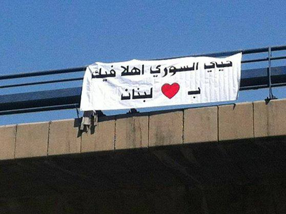 Dear Syrian, welcome! welcome to Lebanon