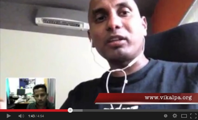 Screenshot of Ruki Fernando from an interview with Vikalpa.org