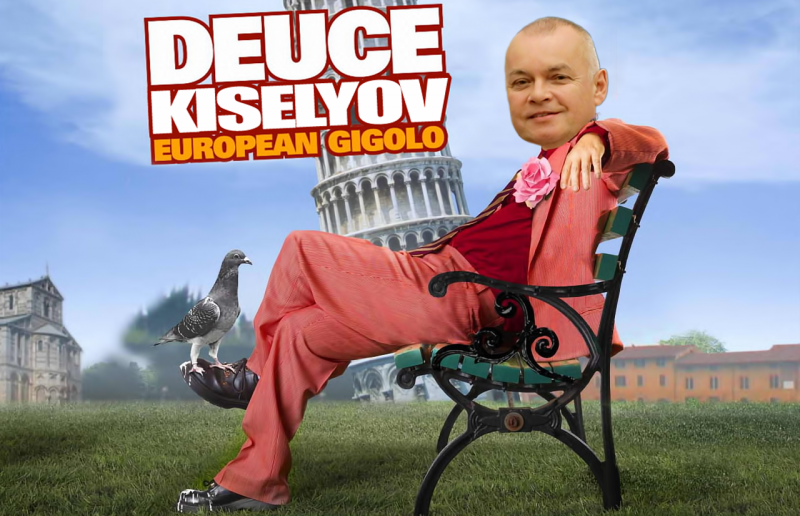 Dmitry Kiselyov's crazy European vacation! Images remixed by author.