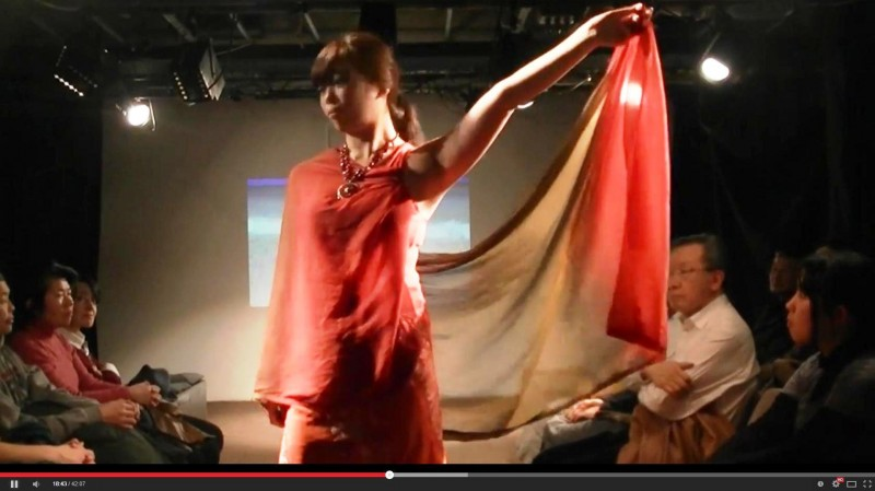 Image captured from youtube video of Fashion Resistance to Militarism by the Asian Women's Association