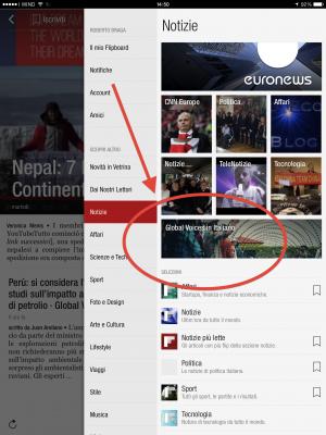 Flipboard Italian content guide