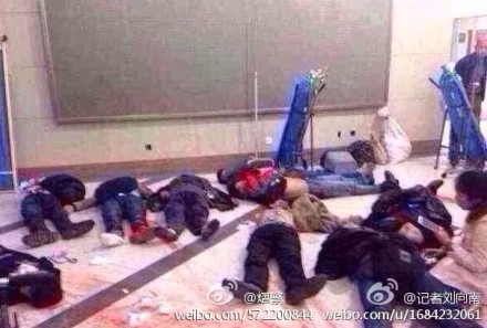 The Kunming attack has left 29 dead. (photo from Sina Weibo)