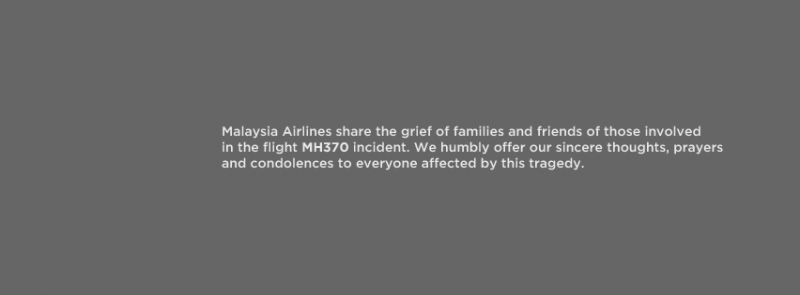 Image from Facebook page of Malaysia Airlines