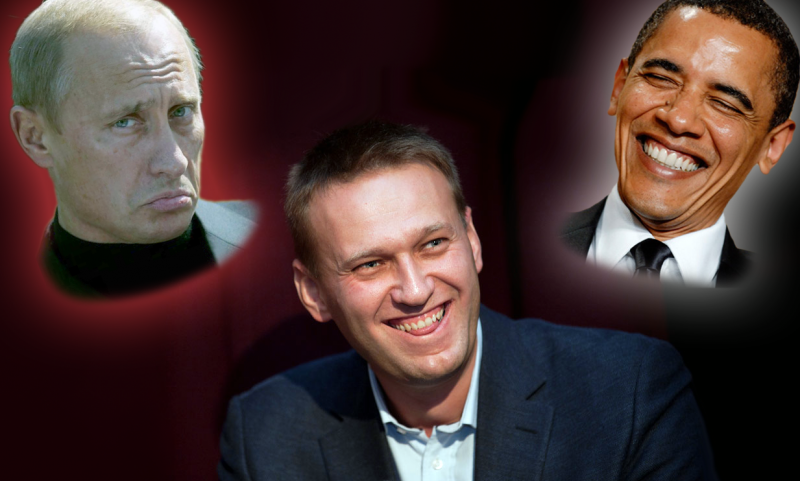 Putin, Navalny, Obama post sanctions? Artistic reenactment.