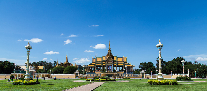 A temple in Phnom Penh, Cambodia's capital