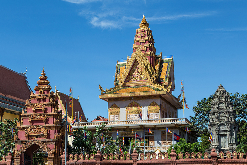 A temple in Phnom Penh