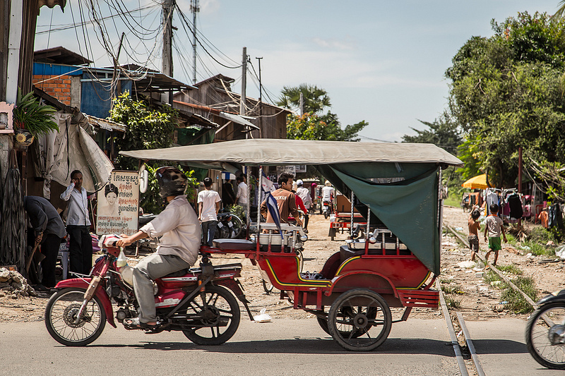 Cambodia's tuktuk, a popular mode of transport