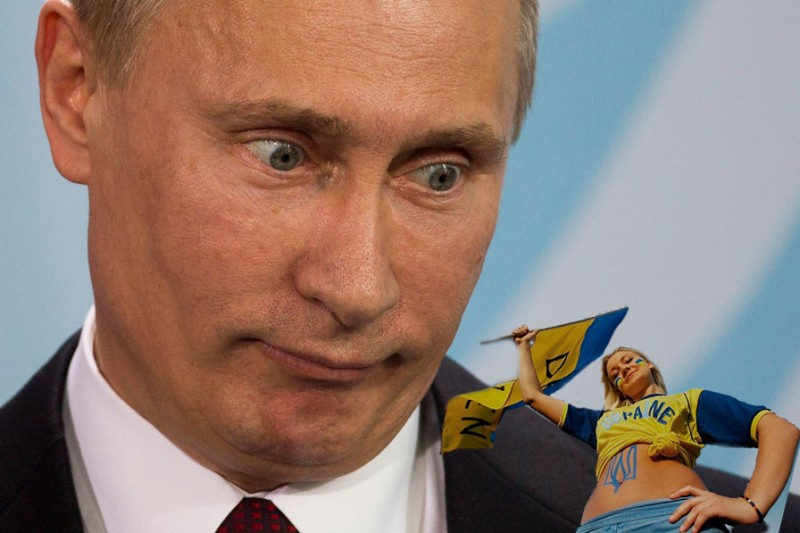 "Putin ""eyes"" Ukraine? Images mixed by author."
