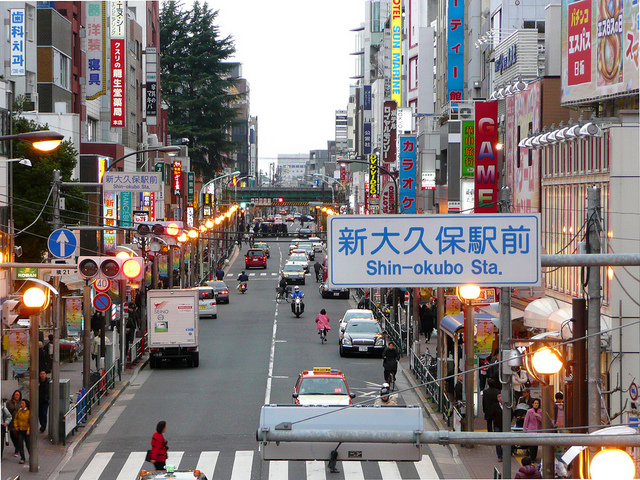 Photo of Shin-Okubo by flickr user Metro Centric, (CC BY 2.0)