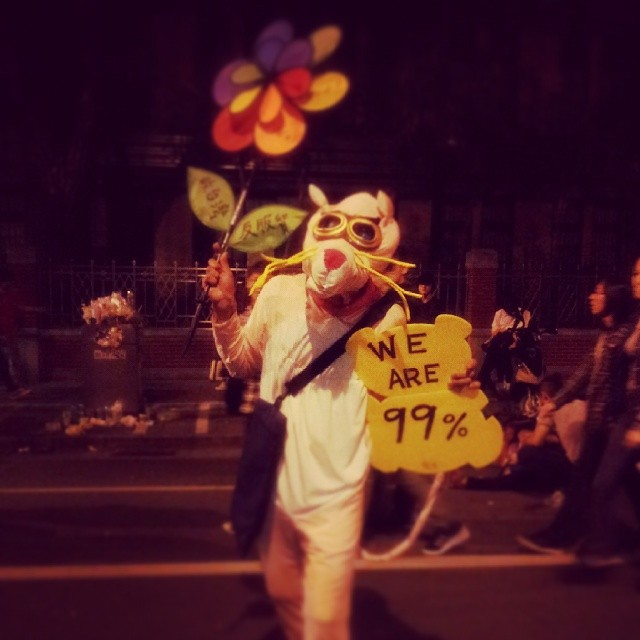 A protester in #CongressOccupied. Kong Fu Panda, a reporter at UDN.com, has granted Global Voices permission to republish. CC: NC.