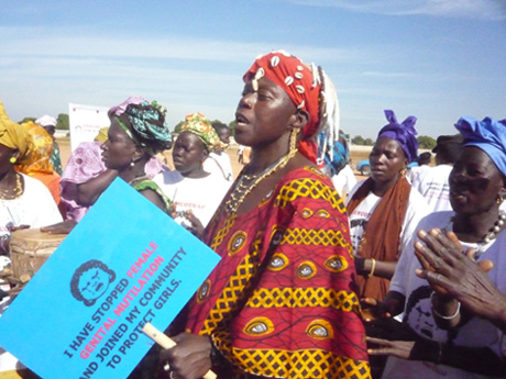 Anti-FGM activists marching in the Gambia. Photo released under Creative Commons by Gamtrop