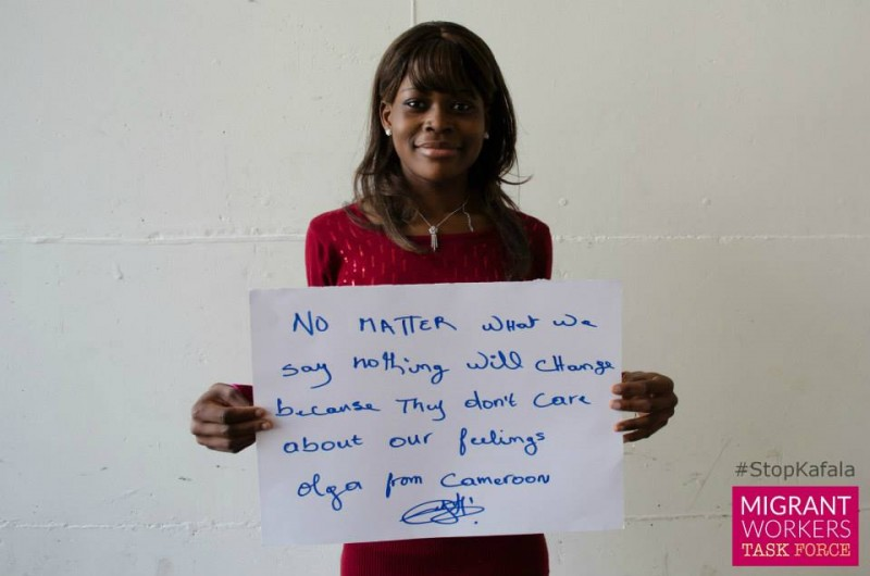 "Olga from Cameroon: ""No matter what we say nothing will change because they don't care about our feelings"""