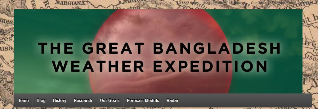 Screenshot of the Great Bangladesh Weather Expedition Page