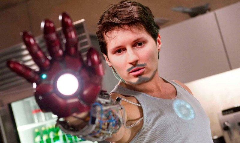 Iron Durov. Images remixed by Kevin Rothrock.