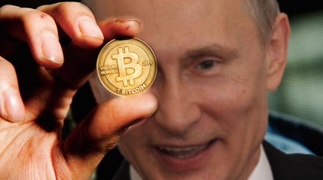Russia reconsiders Bitcoin? Images mixed by Kevin Rothrock.