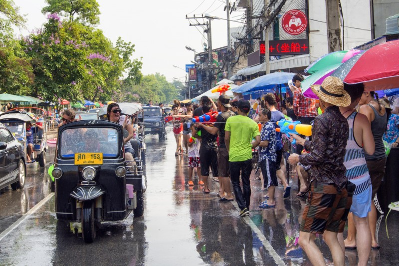 Songkran celebration in Chiang Mai, Thailand. Photo by Panupong Roopyai, Copyright @Demotix (4/12/2014)