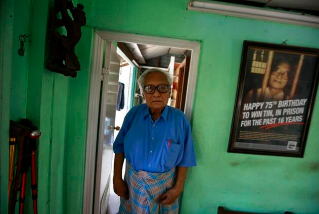 Win Tin, legendary Burmese journalist and activist, died last April 21. Photo from @hrw (Human Rights Watch
