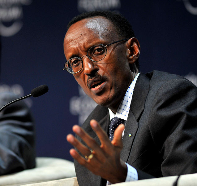 Rwandan President Paul Kagame at the World Economic Forum on Africa 2009 in Cape Town, South Africa