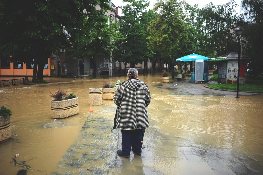 The beginning of the floods in Obrenovac, Serbia. Photographer: Marko Ristic