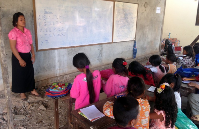 Education in Cambodia is still at low levels