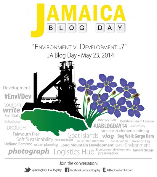 The 2014 Jamaica Blog Action Day logo; image courtesy the event.