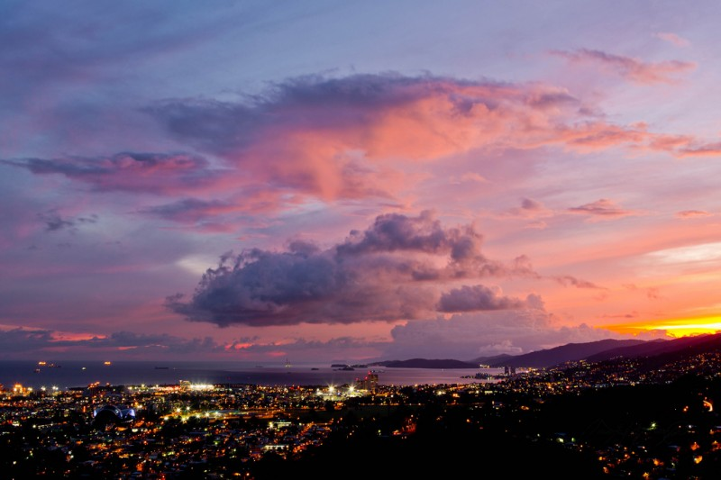 Port of Spain, Trinidad and Tobago Nightscape. Photo by Quinten Questel, used under a CC license.