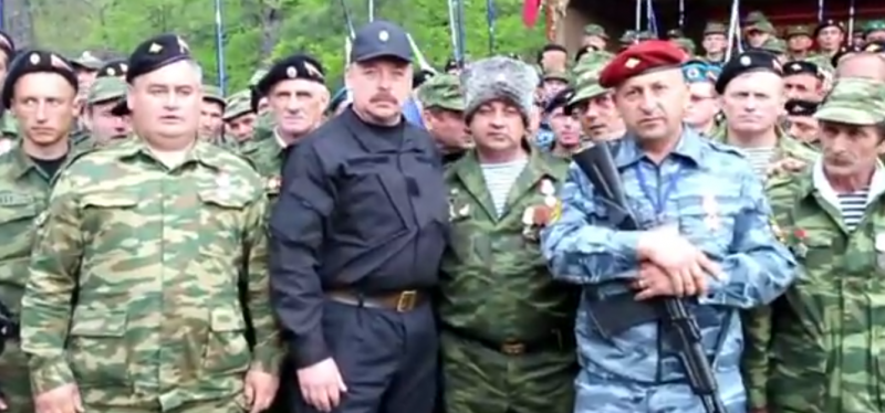 """We are coming to the southeast,"" declares a Crimean militia. May 2, 2014, YouTube."