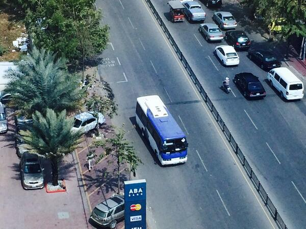 New bus in Cambodia