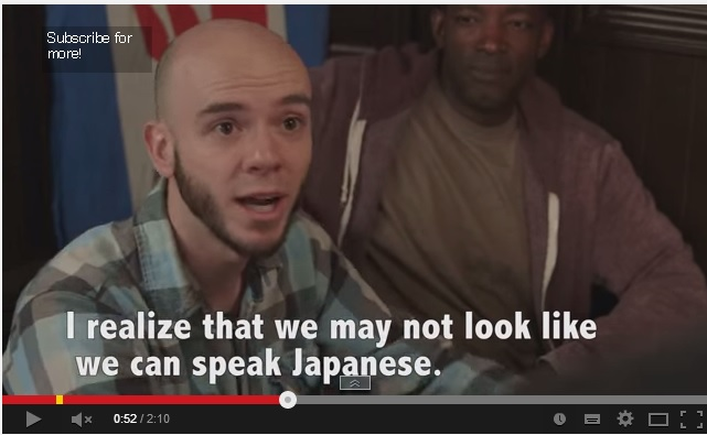 "Screenshot of YouTube video ""But we're speaking Japanese"" by user name helpmefindparents"