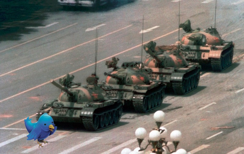 A last stand to save the Web. The RuNet's Tiananmen tweets? Images mixed by author.