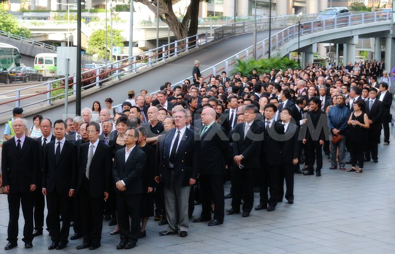 1,800 Hong Kong lawyers dressed in black marched through the city on 27 of June to protest against what they see as Chinese interference, a sign of growing concern about the rule of law in the Asian financial centre and a further act of dissent against Beijing. Photo by PH Yang at Demotix.