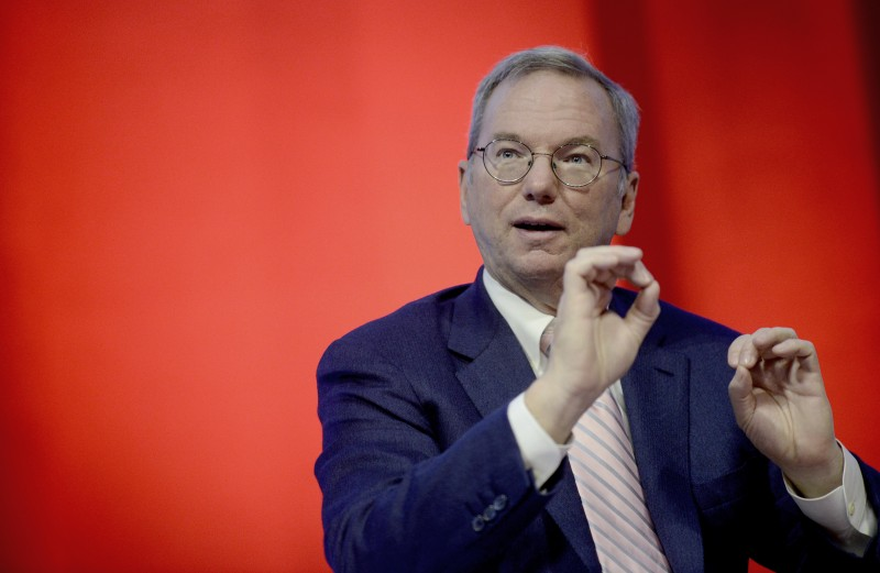 Eric Schmidt at the Google Big Tent meeting in Rome in October 2013. Photo by Simona Granati. Copyright Demotix.