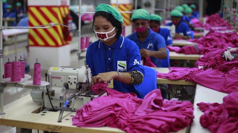 About 4 million Bangladeshis are working in the Ready-Made Garments (RMG) sector, which is the principal source of foreign exchange earnings. 80% of the workforce in this sector are women. Image by Shafiqul Alam. Copyright Demotix (22/6/2014)
