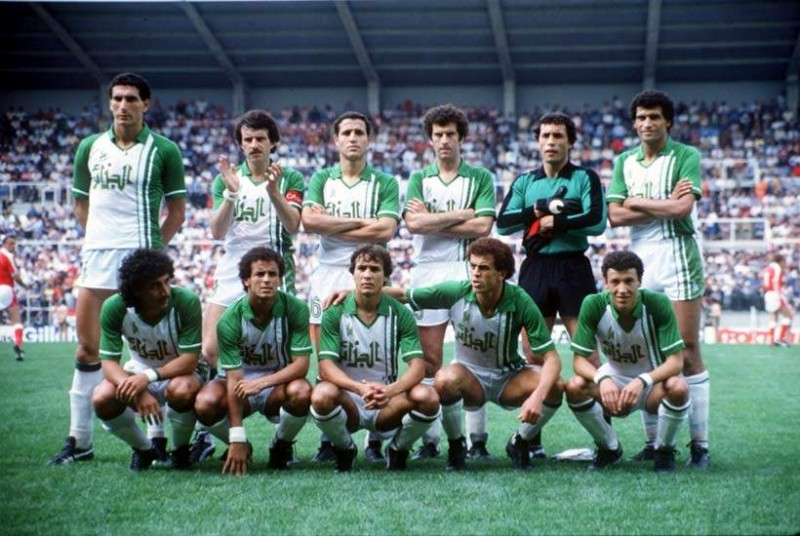 Algeria national football team in 1982 FIFA World Cup via wikipedia Public Domain