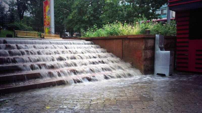 Almaty floods. Photo uploaded onto Twitter by Dina Sabyrova ;@4144777
