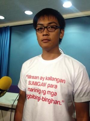 Statement on Em Mijares' shirt reads