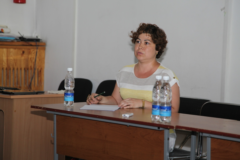 Mohira Suyarkulova, University of Central Asia, Bishkek (Photo taken Natali Anarbaeva).