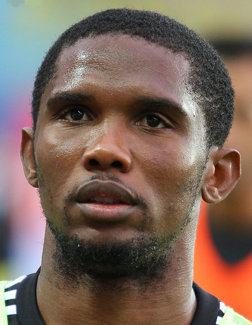 Cameroonian national team captain Samuel Eto'o. Photo released under Creative Commons by  soccer.ru.