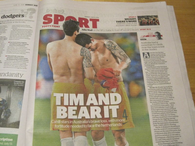 Tim Cahill - The Age 15 June 2014
