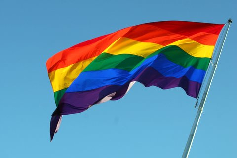 LGBT pride flag. Photo by Flickr user Sam Breach. CC BY-NC-ND 2.0