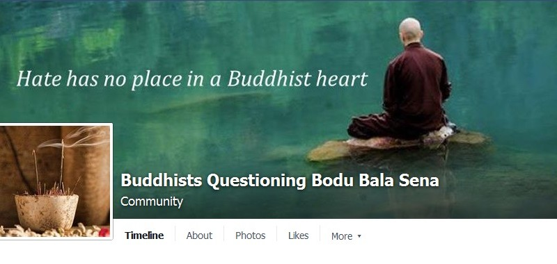Screenshot of the Facebook group Buddhists Questioning Bodu bala Sena