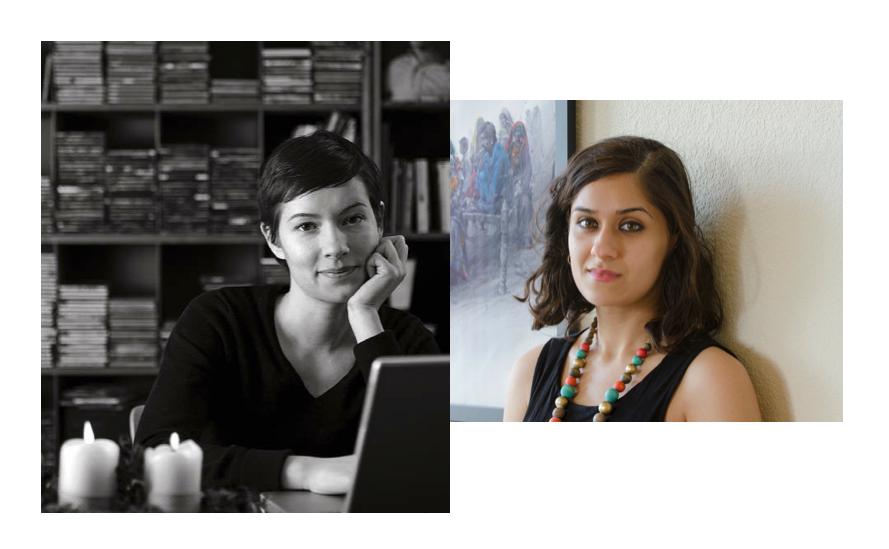 Outgoing Managing Editor, Solana Larsen (L) will be succeeded by Sahar Habib Ghazi (R)