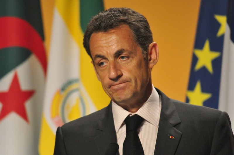 Nicolas Sarkozy during an Afrique-France summit in Nice in May 2010. Photo by Tanguy HUGUES. Copyright Demotix.
