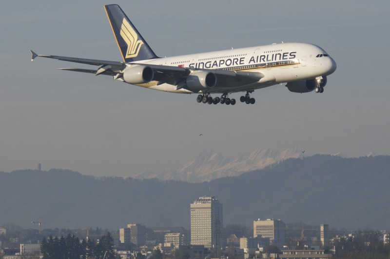 A Singapore Airlines flight on March 29, 2014. Photo by Flickr user Aero Icarus. CC BY-NC-SA 2.0