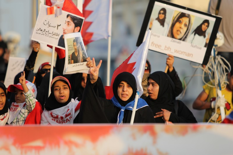 A opposition rally near Manama, Bahrain, on November 22, 2013. Photo by Sayed-Baqer. Copyright Demotix.