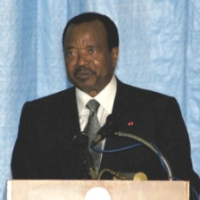 Paul Biya, president of Cameroon - Public Domain