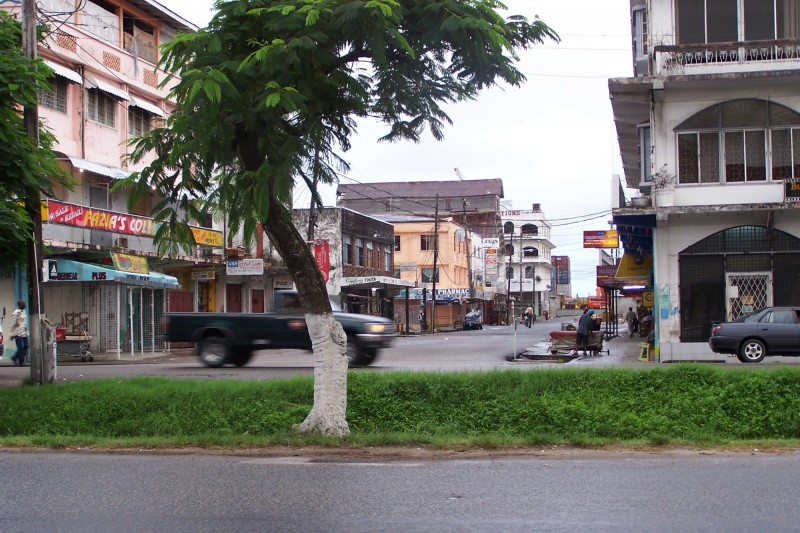 A street in Georgetown, Guyana. Photo from Wikipedia Commons.